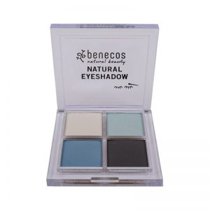 NATURAL QUATTRO EYESHADOW true blue, certified natural cosmetics (BDIH
